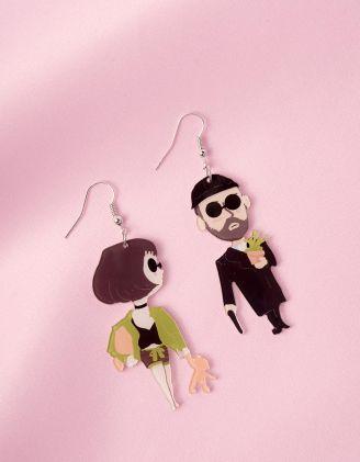 Сережки із зображенням Леона та Матільди | 247249-02-XX - A-SHOP