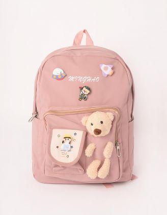Рюкзак для міста з ведмедиком та значками   246637-71-XX - A-SHOP
