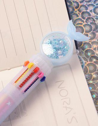 Ручка з різними кольорами та хвостом русалки з намистинами | 239099-18-XX - A-SHOP