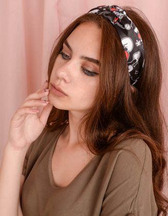 Обідок для волосся з принтом Міккі Мауса | 241707-02-XX - A-SHOP