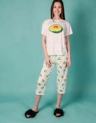 Піжама з принтом авокадо | 242575-01-21 - A-SHOP