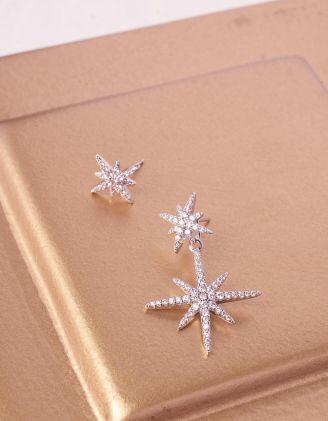 Сережки з гвіздочками у вигляді зірок | 243046-06-XX - A-SHOP