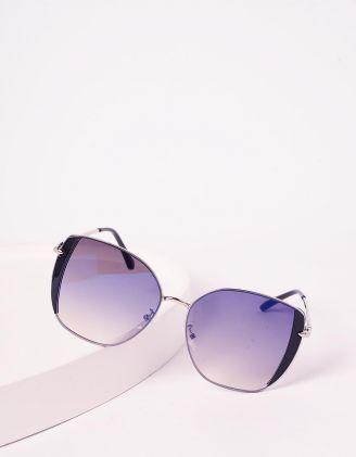 Окуляри cat eye сонцезахисні з блискітками на оправі | 241251-07-XX