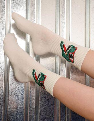 Шкарпетки з принтом динозавра в окулярах | 239520-01-XX - A-SHOP
