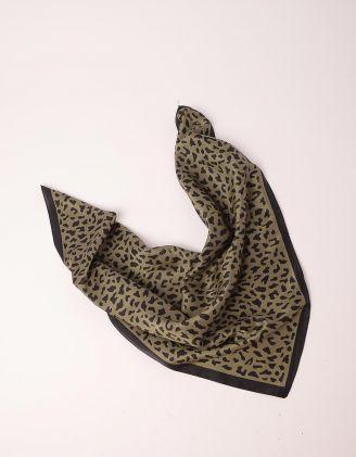 Хустка на шию з леопардовим принтом | 249870-38-XX - A-SHOP