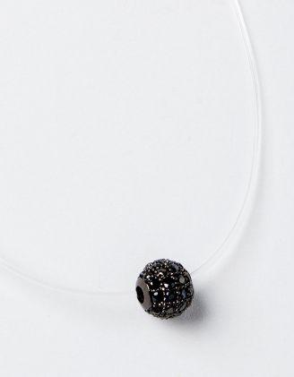 Підвіска з волосіні з кулоном у вигляді кульки з камінцями | 229098-10-XX - A-SHOP