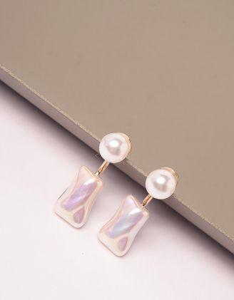 Сережки з перлинами | 246107-08-XX - A-SHOP