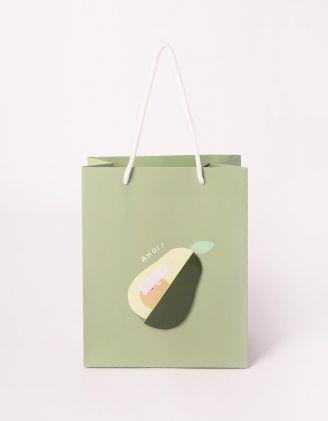 Пакет подарунковий з принтом фруктів | 240700-20-XX - A-SHOP