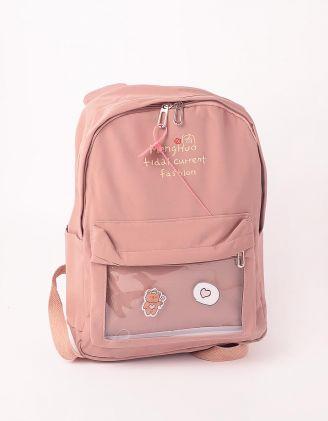 Рюкзак для міста з вушками та ведмедиком на кишені | 248983-71-XX - A-SHOP