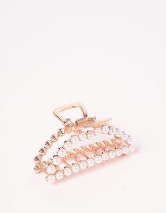 Шпилька для волосся крабік з перлинами | 244446-08-XX - A-SHOP