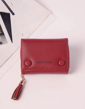 Гаманець портмоне з китицею та гудзиками | 240257-27-XX - A-SHOP