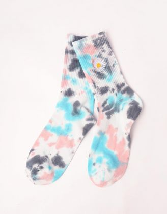 Шкарпетки з тай дай принтом та ромашкою | 246746-18-XX - A-SHOP