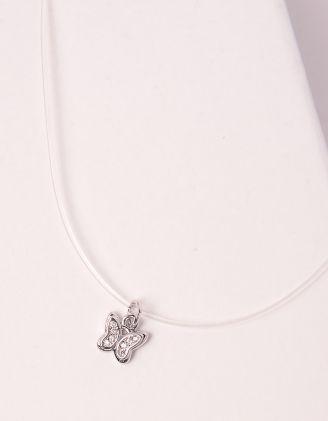 Підвіска на шию із волосіні з метеликом | 246908-05-XX - A-SHOP