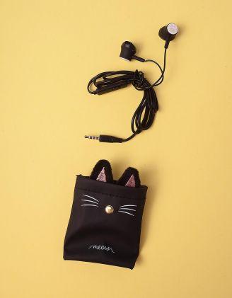 Навушники з чохлом із зображенням киці | 248704-02-XX - A-SHOP