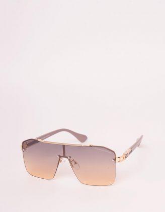 Окуляри сонцезахисні маска з фурнітурою на оправі | 248222-12-XX - A-SHOP