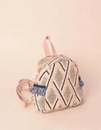 Рюкзак для прогулянок плетений з орнаментом | 239287-22-XX