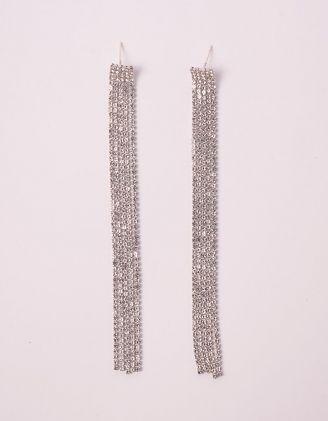 Сережки довгі інкрустовані стразами | 246117-06-XX - A-SHOP