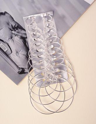 Сережки кільця у наборі різного розміру | 237761-05-XX - A-SHOP