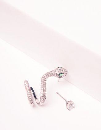 Сережки з пусетами у вигляді змійки | 243462-06-XX - A-SHOP