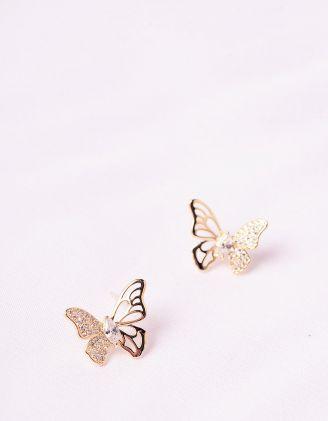 Сережки з метеликами | 246151-08-XX - A-SHOP