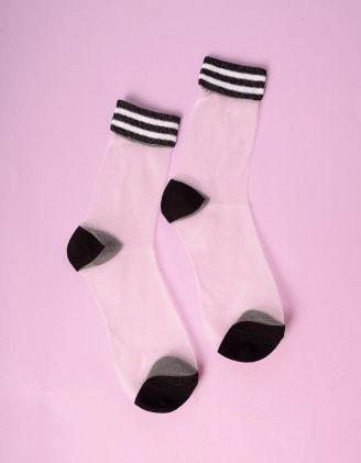 Шкарпетки прозорі зі смужками | 235273-02-XX - A-SHOP