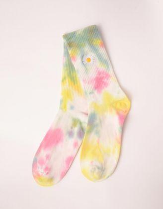 Шкарпетки з тай дай принтом та ромашкою | 246746-19-XX - A-SHOP