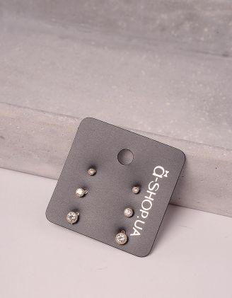 Сережки пусети у наборі | 245005-08-XX - A-SHOP