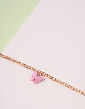 Браслет на ногу з метеликом | 244500-69-XX - A-SHOP