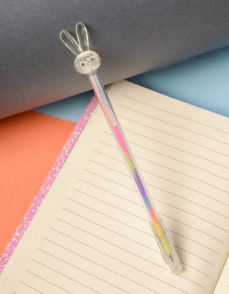 Ручка з кольоровою пастою та зайчиком на кінці | 237823-37-XX - A-SHOP