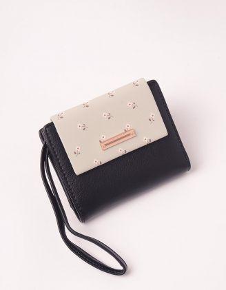 Гаманець портмоне з принтом ромашки | 246032-02-XX - A-SHOP