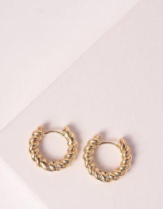 Сережки кільця маленькі плетені | 247358-04-XX - A-SHOP