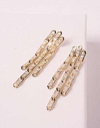 Сережки із ланцюжка з камінцями | 245624-08-XX - A-SHOP