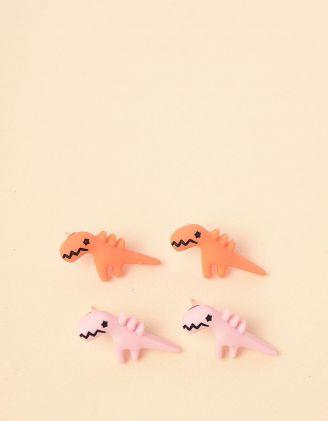 Сережки пусети у наборі у вигляді динозавриків | 246318-26-XX - A-SHOP