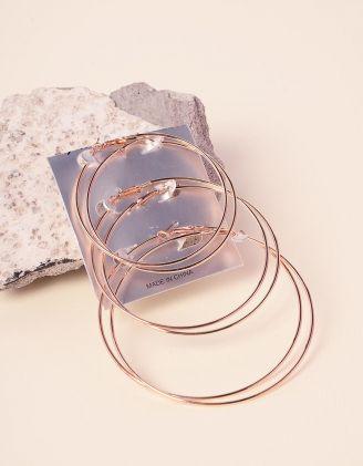 Сережки кільця в наборі | 237775-04-XX - A-SHOP