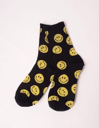 Шкарпетки з принтом смайликів | 247446-02-XX - A-SHOP
