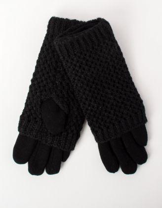 Перчатки крупная вязка с плюшевой подкладкой   213135-02-XX - A-SHOP