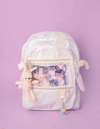 Рюкзак для міста з брелоком у вигляді кролика | 246597-05-XX - A-SHOP