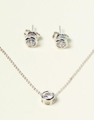 Комплект із підвіски та сережок з кристалами | 231464-06-XX - A-SHOP