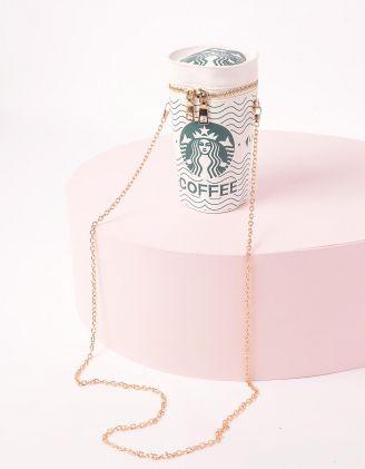 Сумка на ланцюжку у вигляді склянки з кавою | 243181-01-XX - A-SHOP