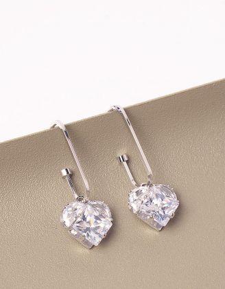 Сережки з кулонами у вигляді сердець | 246944-06-XX - A-SHOP