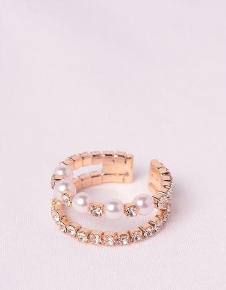 Кільце із перлин зі стразами | 248106-08-XX - A-SHOP