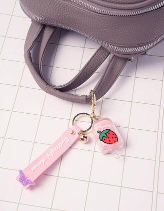 Брелок на сумку  у вигляді морозива з принтом фрукта | 242326-14-XX - A-SHOP