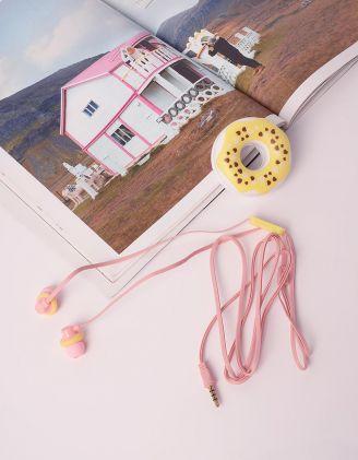 Навушники з чохлом у вигляді тістечка | 232184-19-XX - A-SHOP