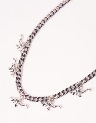 Підвіска на шию із ланцюга з кулонами у вигляді динозаврів | 247709-05-XX - A-SHOP