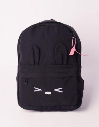 Рюкзак молодіжний з вушками та принтом зайця | 239313-02-XX - A-SHOP