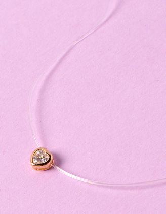 Чокер з волосіні з кулоном у вигляді серця | 234239-08-XX - A-SHOP