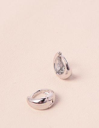 Сережки маленькі кільця містять срібло   215447-05-XX - A-SHOP