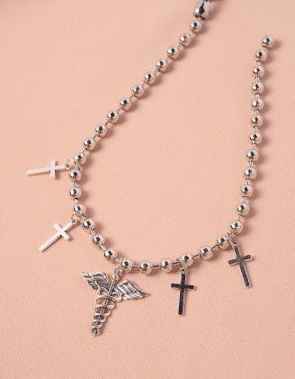 Підвіска на шию із намистин з хрестами | 244241-05-XX - A-SHOP