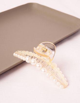 Шпилька для волосся крабік з перлинами | 245971-01-XX - A-SHOP