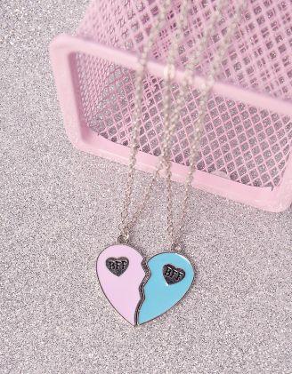 Підвіска на шию best friends  з кулоном у вигляді серця | 246501-21-XX - A-SHOP